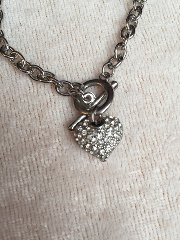 Heart Toggle Bracelet - All That Glitters - 1