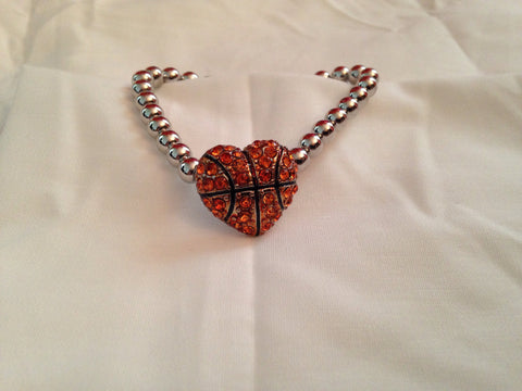 Basketball Heart Bracelet - All That Glitters