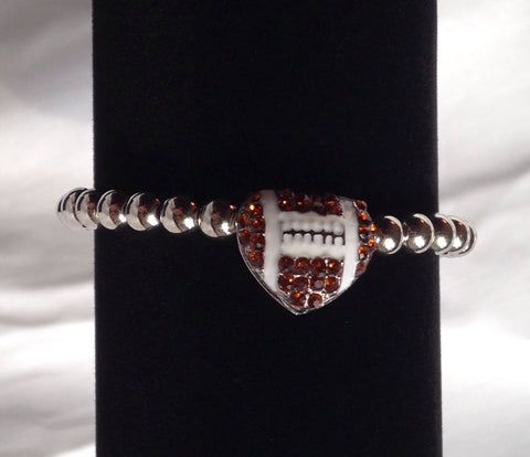 Heart Shape Football Bracelet - All That Glitters