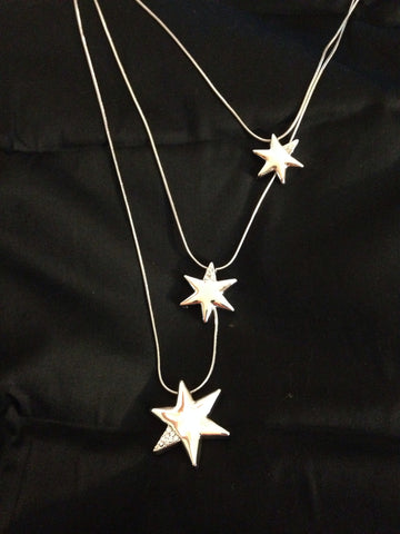Shooting Star Triple Necklace - All That Glitters