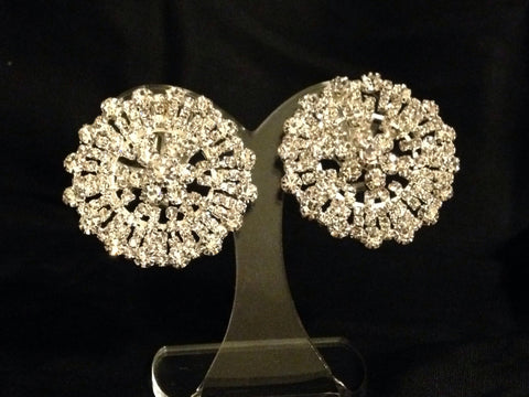 Round Sunburst Clip Earrings - All That Glitters