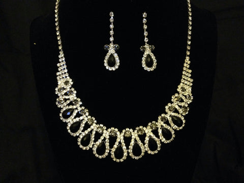 Formal Rhinestone Necklace Set - All That Glitters