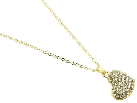 Crystal Heart Charm Necklace - All That Glitters