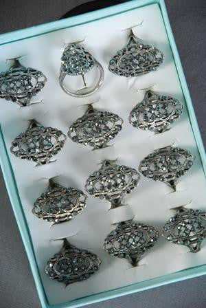 Filigree Marcasite Ring - All That Glitters