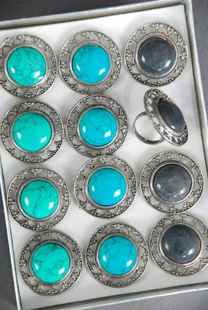 Antique Turquoise Adjustable Ring - All That Glitters