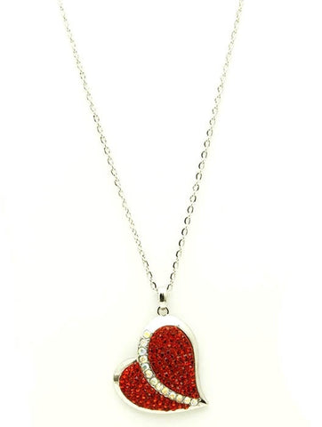 Red Stone Heart Necklace - All That Glitters