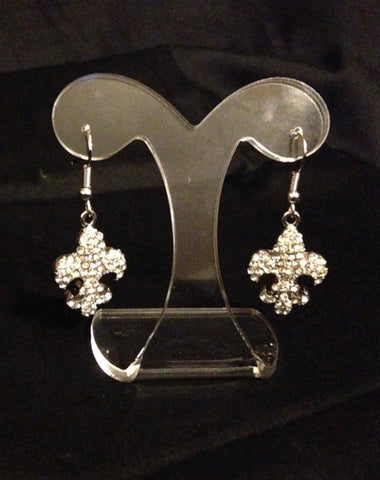 Fleur De Lis Dangle Earrings - All That Glitters