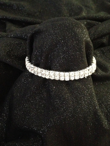 Two Line Stretch Rhinestone Bracelet - All That Glitters - 1
