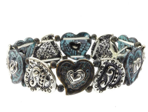 Heart Stretch Bracelet - All That Glitters