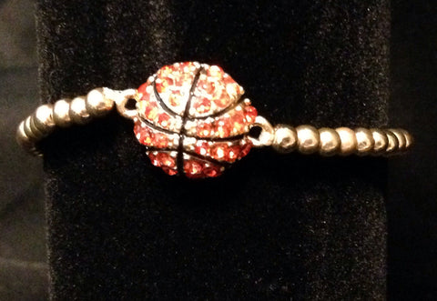 Rhinestone Basketball Bracelet - All That Glitters