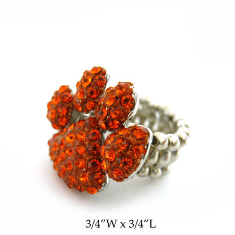 Paw Print Stretch Band Ring - All That Glitters