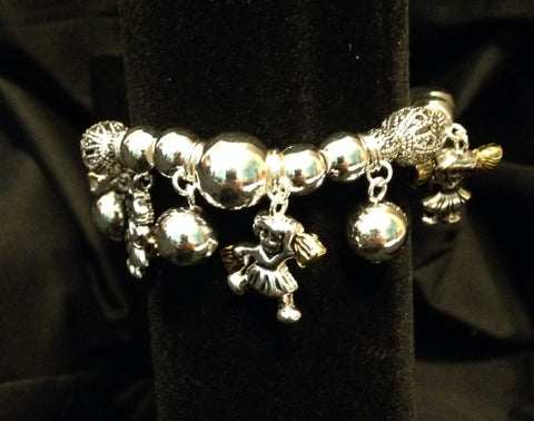 Cheerleader Charm Bracelet - All That Glitters