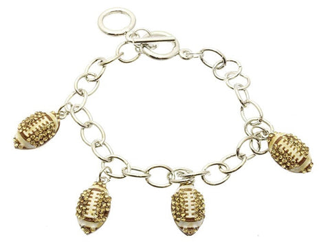 Football Charm Bracelet - All That Glitters