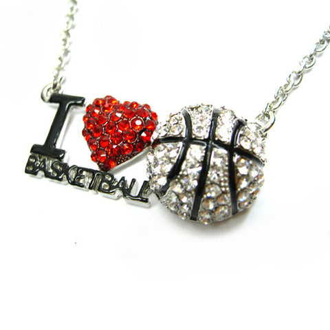 I Love Basketball Necklace - All That Glitters - 1