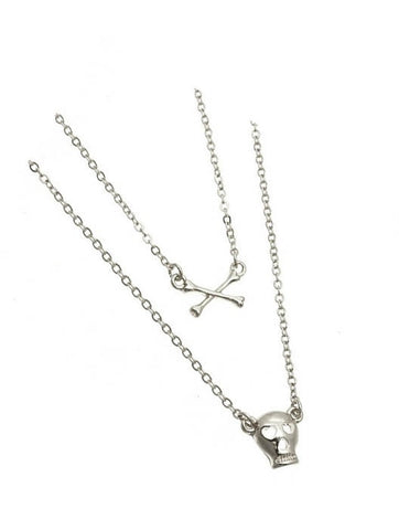 Skull And Crossbones Necklace - All That Glitters
