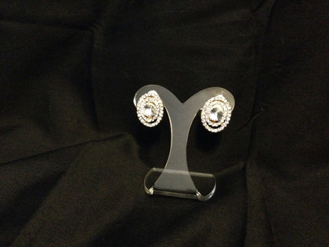 Rhinestone Clip On Earrings - All That Glitters