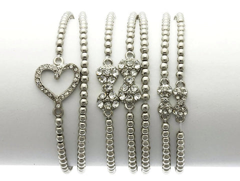 7   Piece Stackable Bracelets - All That Glitters