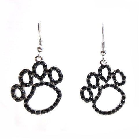 Open Paw Print Dangle Earrings - All That Glitters - 2