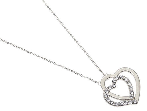 Crystal Stone Heart Necklace - All That Glitters