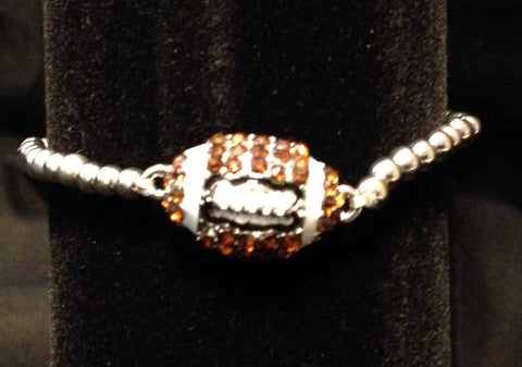 Rhinestone Football Bracelet - All That Glitters