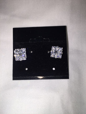 Square Post Earrings - All That Glitters - 1