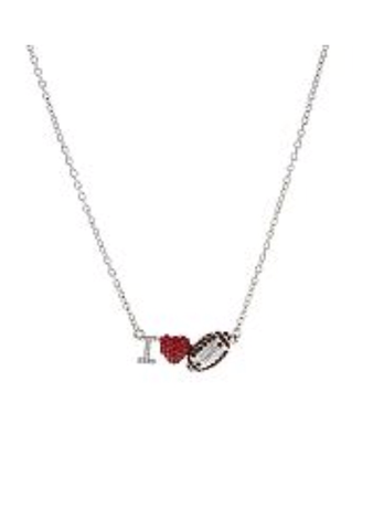 I Love Football Necklace - All That Glitters