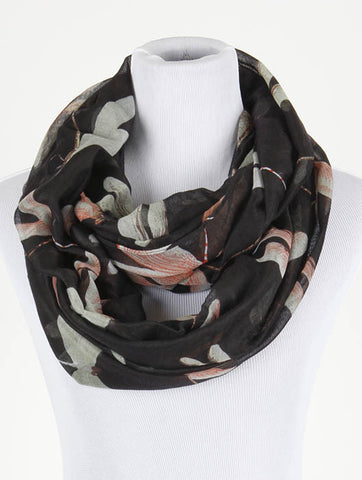 Dragonfly Print Infinity Scarf - All That Glitters - 1