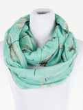 Dragonfly Print Infinity Scarf - All That Glitters - 3