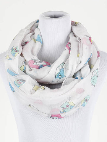Owl Print Infinity Scarf - All That Glitters