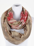 Floral Print Infinity Scarf - All That Glitters - 2