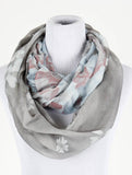 Floral Print Infinity Scarf - All That Glitters - 3