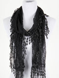 Lace Fringe Scarf - All That Glitters - 1