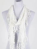 Lace Fringe Scarf - All That Glitters - 3