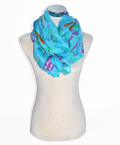 Spring Print Infinity Scarf - All That Glitters - 2
