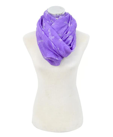 Cross Print Infinity Scarf - All That Glitters - 3