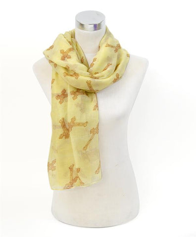 Cross Print Scarf - All That Glitters - 2