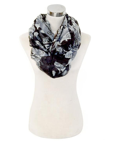 Paisley Print Infinity Scarf - All That Glitters - 4