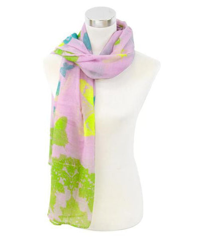 Oblong Butterfly Print Scarf - All That Glitters - 2