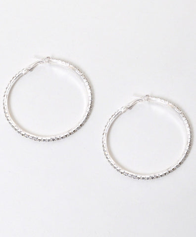 Large Hoop Rhinestone Earrings - All That Glitters