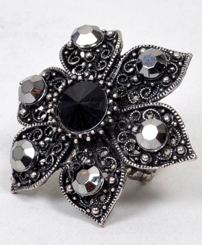 Stretch Ring Flower - All That Glitters