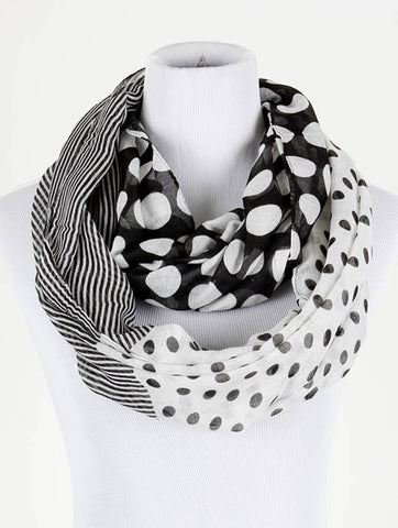 Polka dot and Stripes Infinity Scarf - All That Glitters - 1