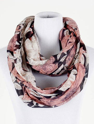 Flower Print Infinity Scarf - All That Glitters - 1