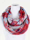 Flower Print Infinity Scarf - All That Glitters - 2