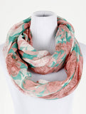 Flower Print Infinity Scarf - All That Glitters - 3