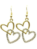 Stacked Heart Earrings - All That Glitters - 2