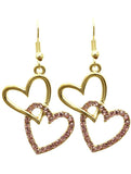 Stacked Heart Earrings - All That Glitters - 3