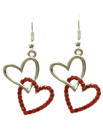 Stacked Heart Earrings - All That Glitters - 1