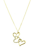 Stacked Heart Necklace - All That Glitters - 3