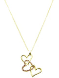 Stacked Heart Necklace - All That Glitters - 4