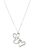 Stacked Heart Necklace - All That Glitters - 2